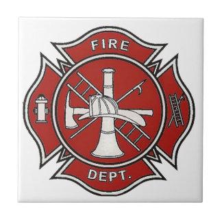 Fire Fighter Badge Tile
