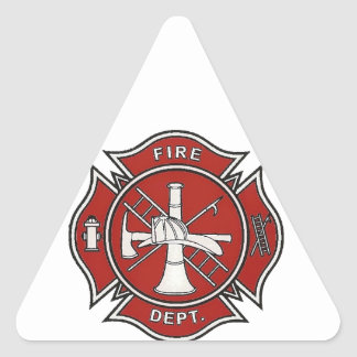 Fire Fighter Badge Triangle Sticker