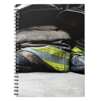 Fire Fighter Boots Notebook