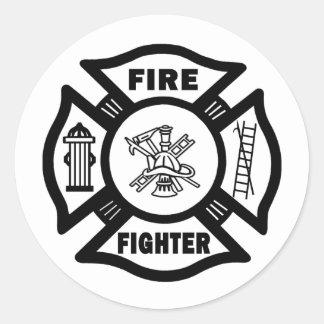 Fire Fighter Classic Round Sticker