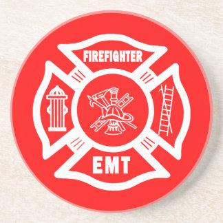 Fire Fighter EMT Beverage Coaster