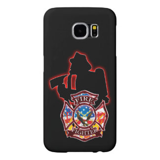 Fire fighter fighting the flames samsung galaxy s6 case