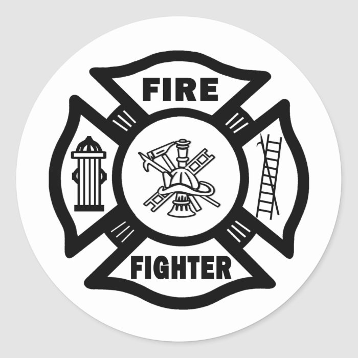 Fire Fighter Fire Dept Sticker
