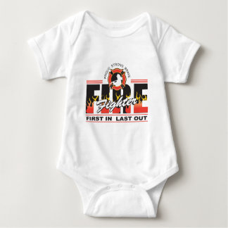 Fire Fighter First In, Last Out Infant Creeper