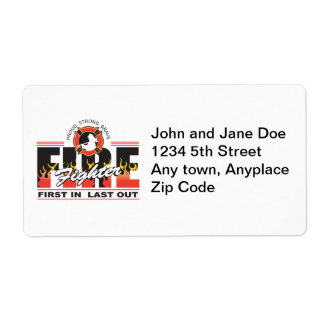 Fire Fighter First In, Last Out Shipping Label