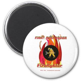 Fire Fighter FirstResponder 2 Inch Round Magnet