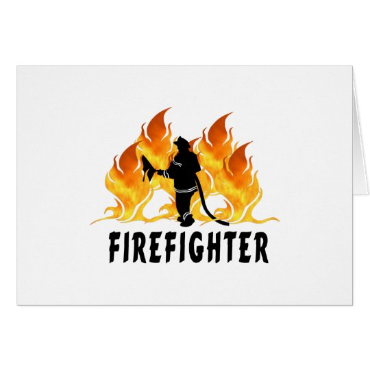 Fire Fighter Flames Card