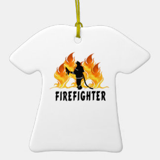 Fire Fighter Flames Christmas Ornament