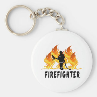 Fire Fighter Flames Keychain