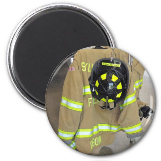 fire fighter helmit and jacket 2 inch round magnet