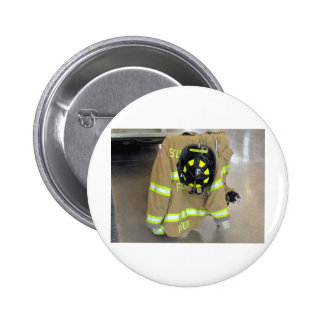 fire fighter helmit and jacket pinback buttons