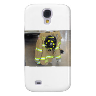 fire fighter helmit and jacket galaxy s4 cover