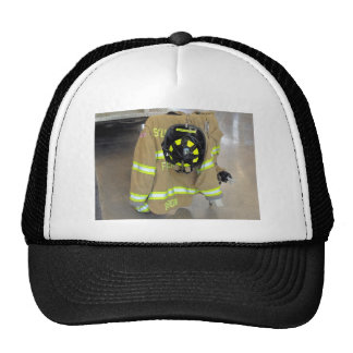 fire fighter helmit and jacket trucker hat