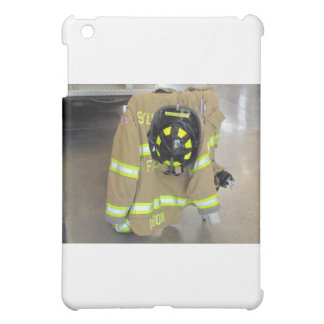 fire fighter helmit and jacket iPad mini cases