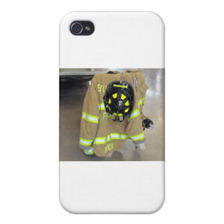 fire fighter helmit and jacket iPhone 4/4S cover