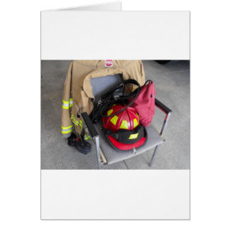 fire fighter helmit on chair cards