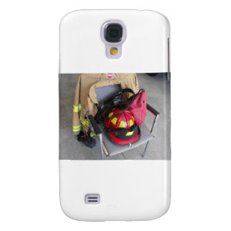 fire fighter helmit on chair galaxy s4 case