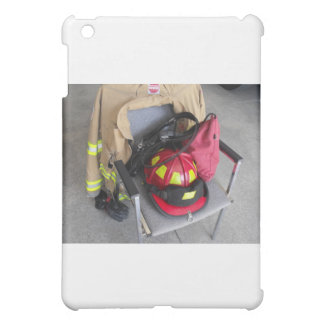 fire fighter helmit on chair iPad mini covers