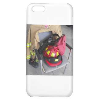 fire fighter helmit on chair iPhone 5C case