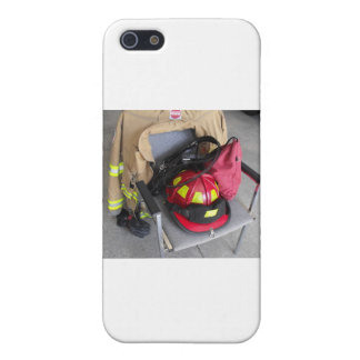 fire fighter helmit on chair iPhone 5 cover