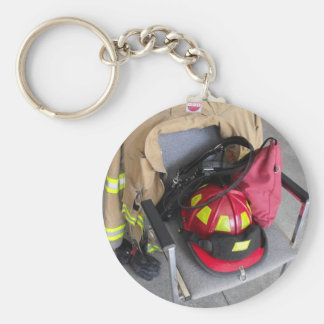 fire fighter helmit on chair key chain