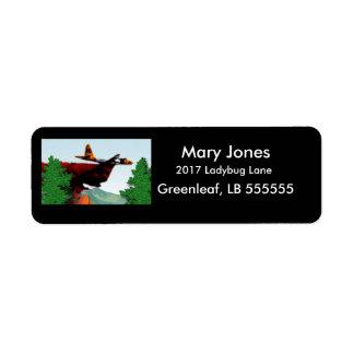Fire Fighter Return Address Label
