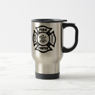 Fire Fighter Maltese 15 Oz Stainless Steel Travel Mug