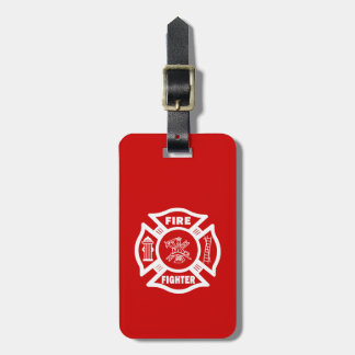 Fire Fighter Maltese Bag Tag