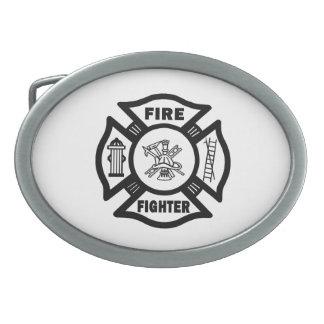 Fire Fighter Maltese Belt Buckle