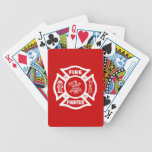 Fire Fighter Maltese Bicycle Playing Cards