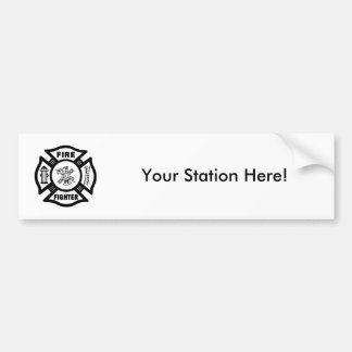 Fire Fighter Maltese Bumper Sticker
