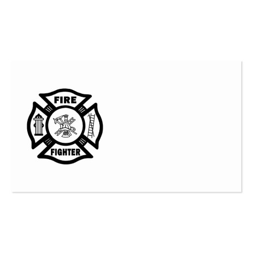 Fire Fighter Maltese Business Card Template