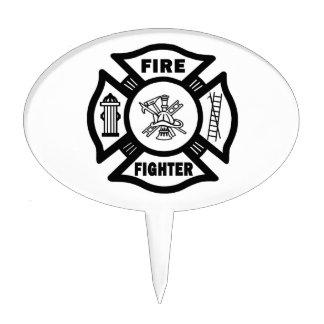 Fire Fighter Maltese Cake Topper