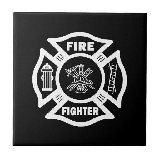 Fire Fighter Maltese Ceramic Tile