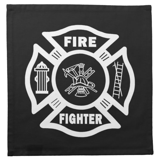 Fire Fighter Maltese Cloth Napkin