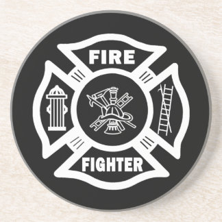 Fire Fighter Maltese Coaster