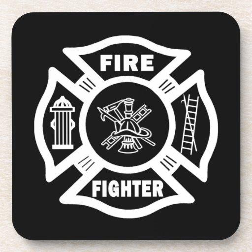 Fire Fighter Maltese Coasters