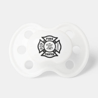 Fire Fighter Maltese Cross Baby Pacifiers