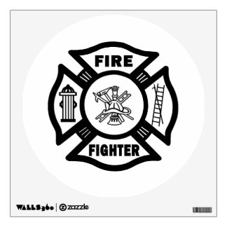 Fire Fighter Maltese Cross Wall Decal