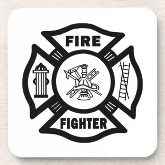 Fire Fighter Maltese Drink Coaster