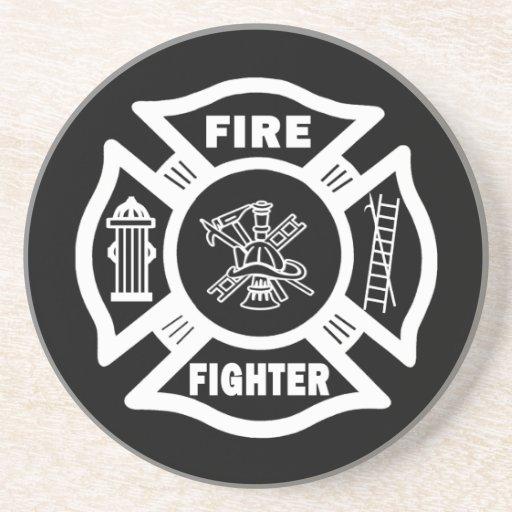 Fire Fighter Maltese Drink Coaster
