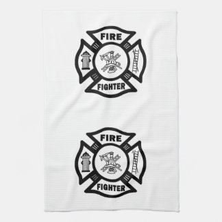 Fire Fighter Maltese Hand Towels