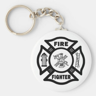 Fire Fighter Maltese Keychain