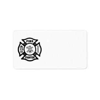 Fire Fighter Maltese Address Label