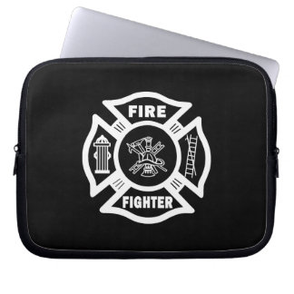Fire Fighter Maltese Laptop Sleeves
