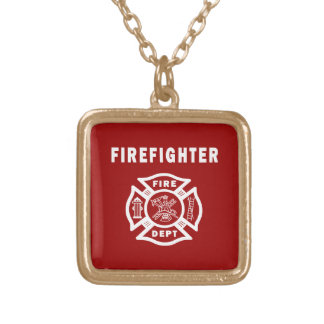 Fire Fighter Maltese Personalized Necklace