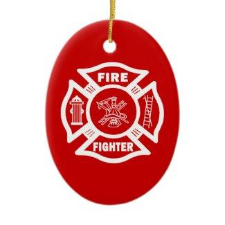 Fire Fighter Maltese ornament