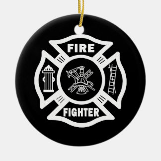 Fire Fighter Maltese Ornaments