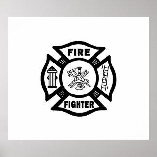 Fire Fighter Maltese Poster
