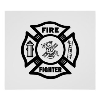Fire Fighter Maltese Posters